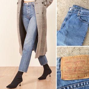 Levi's Vintage High Waste Light Wash Mom Jeans